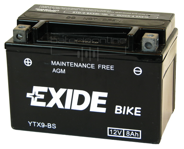 EXIDE BIKE AGM 12V/8Ah YTX9-BS