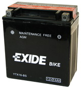 EXIDE BIKE AGM 12V/14Ah YTX16-BS