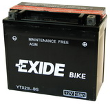 EXIDE BIKE AGM 12V/18Ah YTX20HL-BS